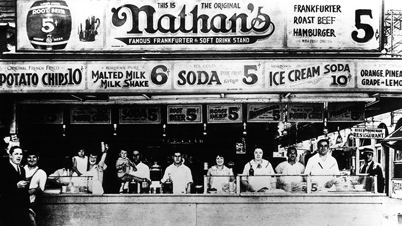 Nathan's Famous store front