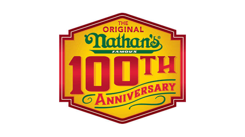 100th aniversary Nathan's Famous logo