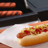 hot dog with seasonings