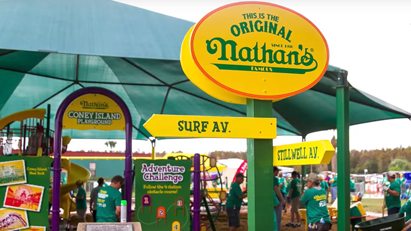 Nathan's Famous playground